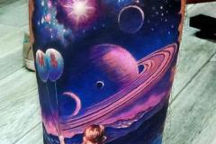 Татушка : Космос, Цветные на предплечье