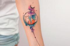 Татуировка : Лиса, Животные, Цветные на предплечье