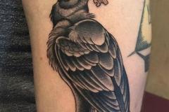 Татуировка : Ворон, Птицы на предплечье