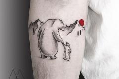 Татуировка : Животные, Горы на предплечье