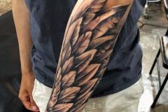 Татушка : Крылья, Рукав на предплечье