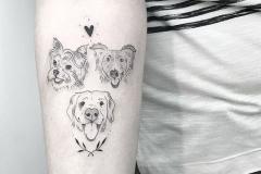 Тату : Собака, Животные на предплечье
