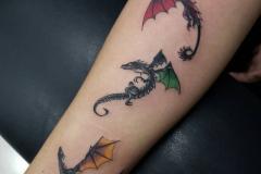 Татуировка : Змея, Цветные на предплечье