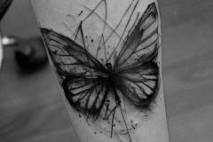 Тату : Бабочка на предплечье