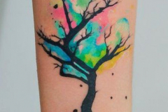 Тату : Деревья, Цветные на предплечье