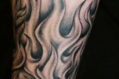 Татуировка : Огонь, Рукав на предплечье