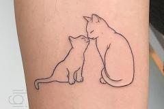 Тату : Животные, Кошка на предплечье