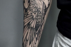 Татуировка : Птицы на предплечье