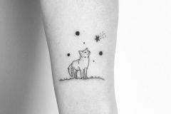 Тату : Животные, Лиса, Звезды на предплечье