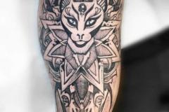 Татуировка : Узор, Кошка, Животные на предплечье