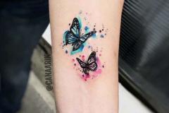 Татуировка : Бабочка, Цветные на предплечье
