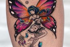 Наколка : Бабочка, Люди, Цветные на предплечье
