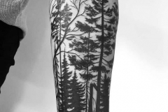 Татушка : Деревья, Рукав на предплечье