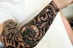Татуировка : Время, Узор, Рукав на предплечье