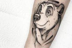 Татуировка : Медведь, Животные, Фильмы на предплечье