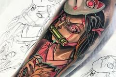 Татуировка : Демон, Рукав на предплечье