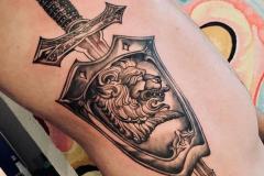 Татуировка : Лев, Животные на ребрах