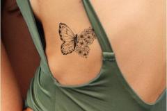 Татушка : Бабочка на ребрах