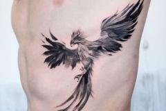 Наколка : Птицы, Орел на ребрах