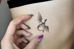 Татуировка : Птицы, Дракон на ребрах