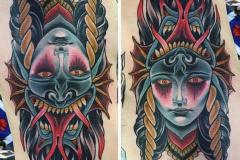 Татуировка : Цветные, Узор на ребрах