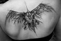 Наколка : Птицы, Орел на спине