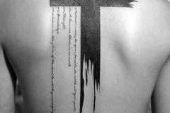 Татуировка : Крест на спине