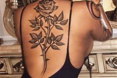 Наколка : Цветы, Роза на спине