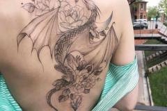 Наколка : Дракон на спине