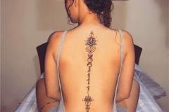 Тату : Цветы, Узор на спине