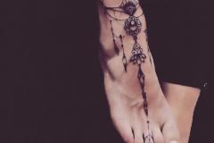Татуировка : Узор на стопе