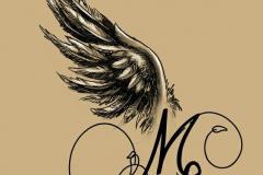 Татушка : Надпись, Крылья