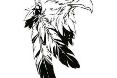 Тату : Перо, Орел, Птицы - эскиз