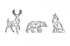 Тату : Медведь, Волк, Животные