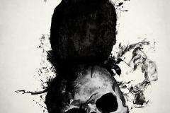 Татуировка : Ворон, Череп, Птицы