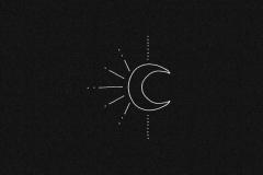 Наколка : Луна, Солнце
