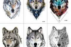 Татушка : Цветные, Волк, Животные