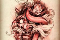 Татуировка : Цветные, Демон