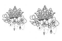 Наколка : Корона, Цветы