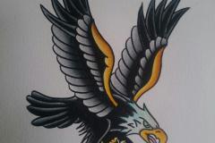 Татуировка : Птицы, Цветные, Орел - эскиз