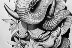 Татуировка : Цветы, Змея