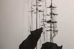 Татушка : Волк, Животные, Деревья