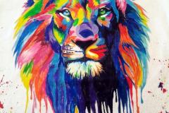 Наколка : Животные, Цветные, Лев