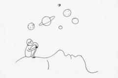 Тату : Луна, Люди - эскиз