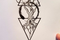 Татуировка : Деревья, Узор - эскиз