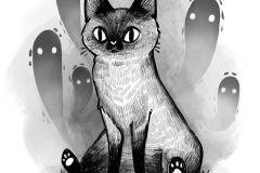 Тату : Кошка, Животные - эскиз