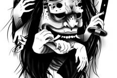 Наколка : Демон, Руки