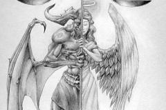 Наколка : Демон, Люди, Крылья