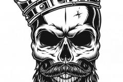 Наколка : Череп, Корона