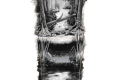 Наколка : Деревья - эскиз